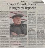Décès de Claude Girard du Club de Vienne