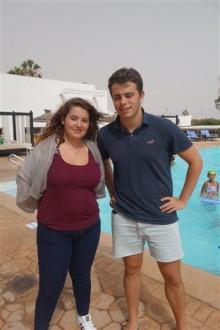 Tiphaine Gas et Gaston Jean-Baptiste Nos représentants à Agadir