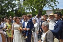 Le club de Vourles assiste à l'union de Julie et Sébastien Giannini
