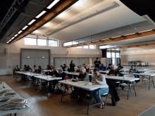 Samedi 7 mars 2020 : Les classes en 3 d'Arnas jouent au Scrabble