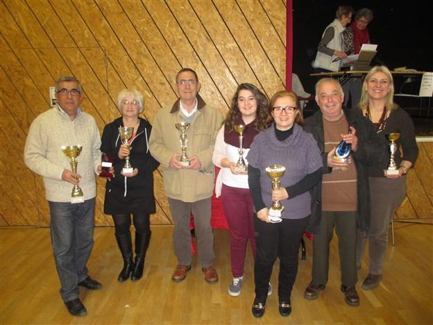 Podium Champ Rhône et Nord-isère 15-03-2015