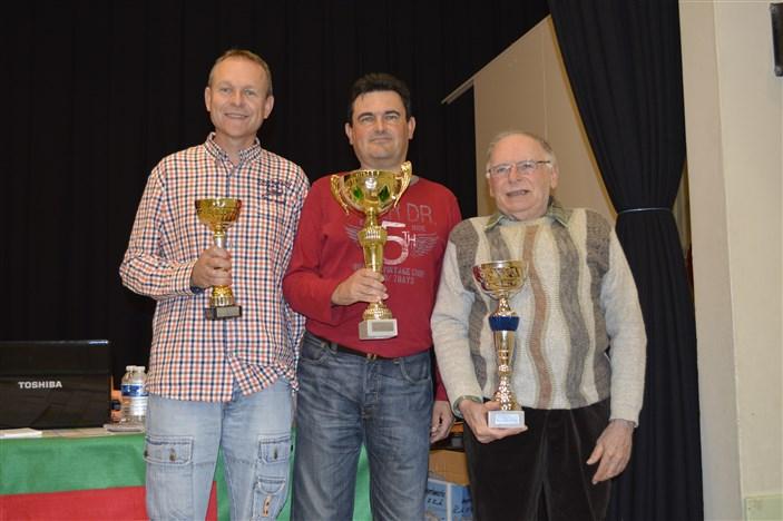 De gauche à droite Gilles boiron, Philippe Chambert et Jean Fertier Champ Loire Terrenoire 27-09-2015
