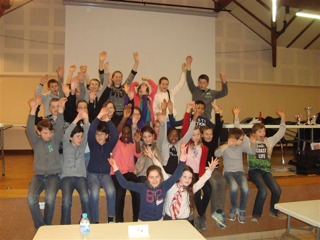 Champ Région Jeunes les 26 participants St-Genis le 12-03-2016